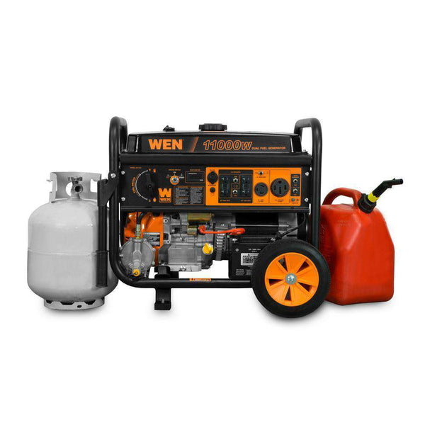 WEN DF1100 11000W/8300W Dual Fuel Portable Generator with Wheel Kit and Electric Start New