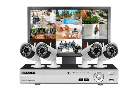 Lorex LW84MW HD 4 Camera 8 Channel DVR and Monitor Indoor/Outdoor Surveillance Security System New