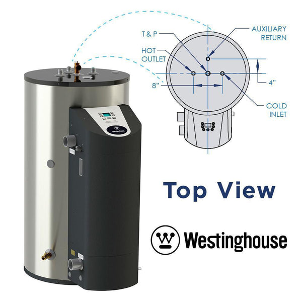 Westinghouse WGR050NG076 50 Gal. 10 Year 76000BTU 97% High Efficiency Natural Gas Water Heater New
