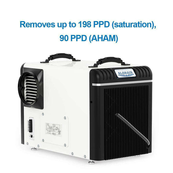 AlorAir HD90 Sentinel Basement/Crawlspace Dehumidifier 90 Pints HGV Defrosting and Remote Monitoring New