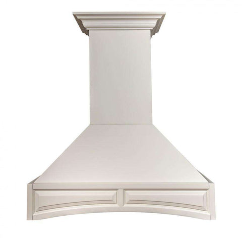 ZLINE 36 in. Wooden Wall Mount Range Hood in White - Includes 1200 CFM Motor (321TT-36)