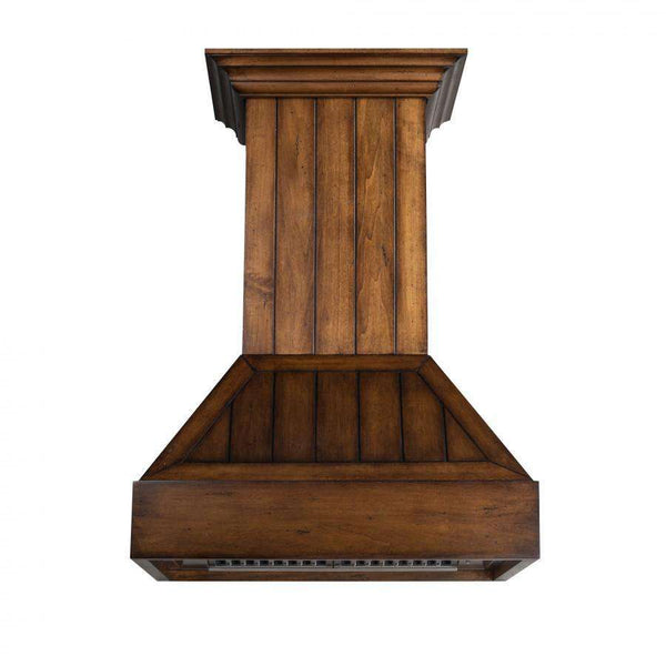 ZLINE 30 in. Wooden Wall Mount Range Hood in Rustic Light Finish - Includes 900 CFM Motor (349LL-30)