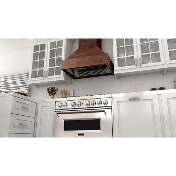 ZLINE 30 in. Wooden Wall Mount Range Hood in Valencia - Includes 900 CFM Motor (355VV-30)