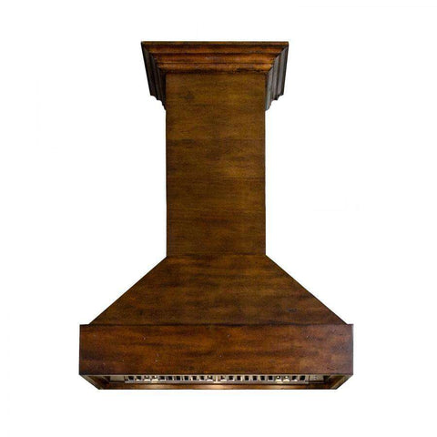 ZLINE 30 in. Wooden Wall Mount Range Hood in Walnut and Hamilton - Includes 1200 CFM Remote Motor (355WH-RD-30)