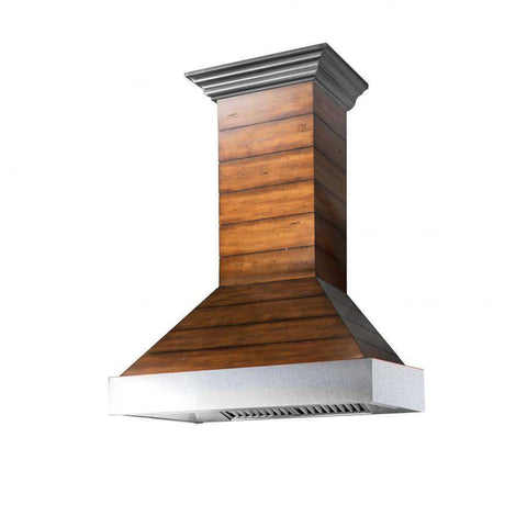 ZLINE 30 in. Wooden Wall Range Hood with Stainless Steel Accent - Includes 900 CFM Motor (365BB-30)