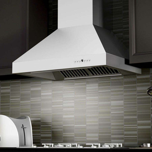 ZLINE 48 in. 1200 CFM Professional Wall Mount Range Hood in Stainless Steel with Crown Molding (667CRN-48)