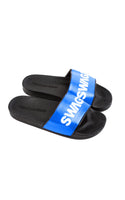 Swag Ldn Iconic Blue & White Slides