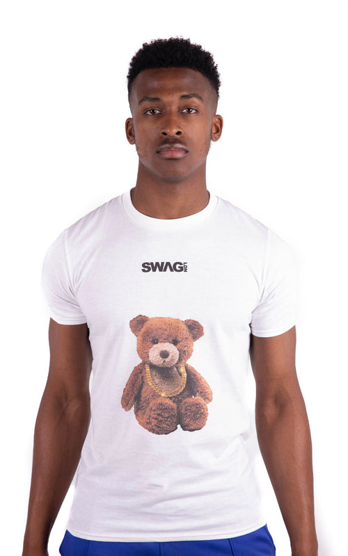 Teddy Bear Tee White