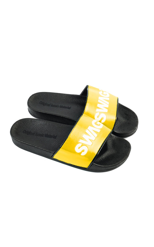 Swag Ldn Iconic Yellow & White Slides