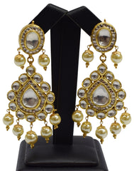 22k Gold Indian Jewelry Necklace with Earing