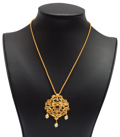 22k Gold Indian Jewelry Necklace