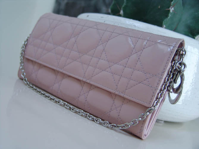 406f73a0d21 ... Christian Dior Lady Dior Rose Clair Cannage Rendez-Vous Charm Clutch WOC  ...
