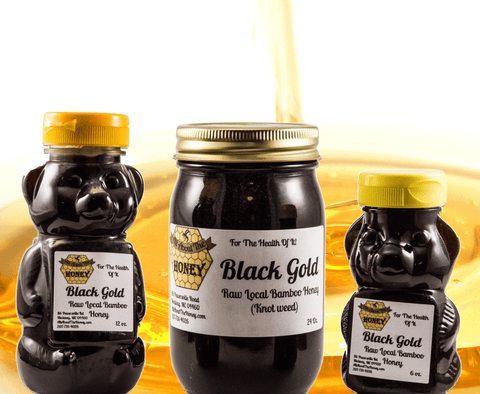 Black Gold Bamboo Raw Local Honey