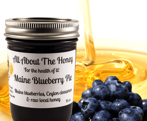 Maine Blueberry Raw Honey Preserve