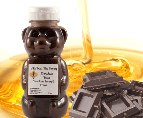 Chocolate raw unfiltered local honey