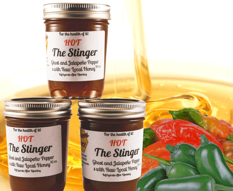 The Stinger Ghost and Jalapeno Pepper with Raw Local Honey