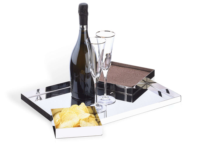 Elleffe Design North America :Modern Sectional Tray in Stainless Steel Grade 18/10 by Elleffe Design
