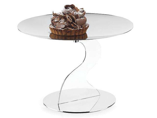 Elleffe Design North America :Alzate Medium Cake Stand in Stainless Steel Grade 18/10 by Elleffe Design