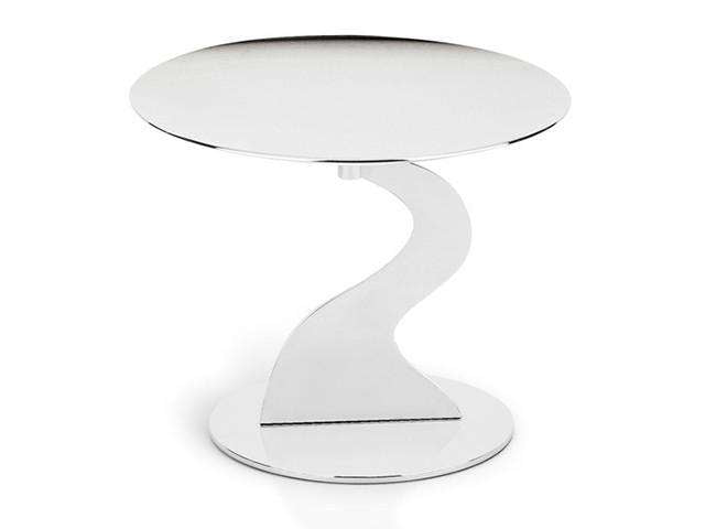 Elleffe Design North America :Alzate Small Cake Stand in Stainless Steel Grade 18/10 by Elleffe Design