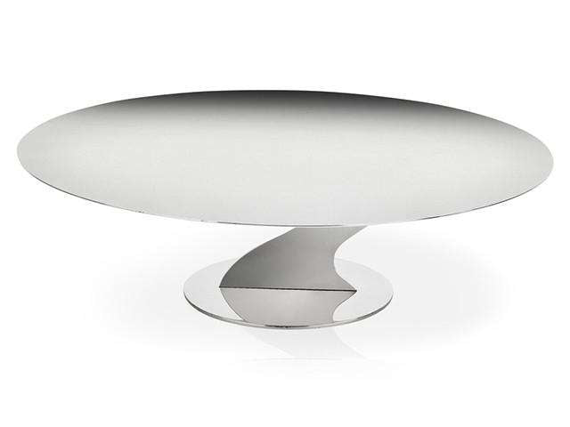 Elleffe Design North America :Alzate Large Cake Stand in Stainless Stand Grade 18/10 by Elleffe Design