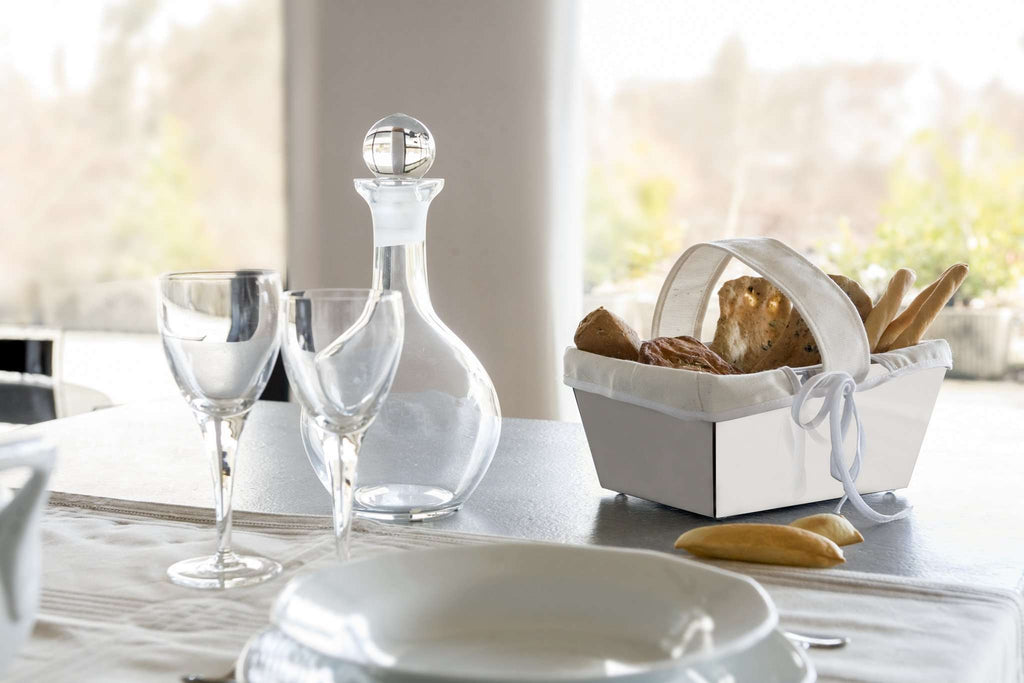 Elleffe Design North America :Juta Small Bread Basket in Stainless Steel Grade 18/10 by Elleffe Design