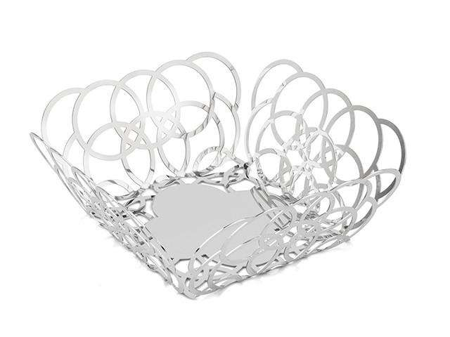 Elleffe Design North America :Small square serving basket in stainless steel grade 18/10 by Elleffe Design