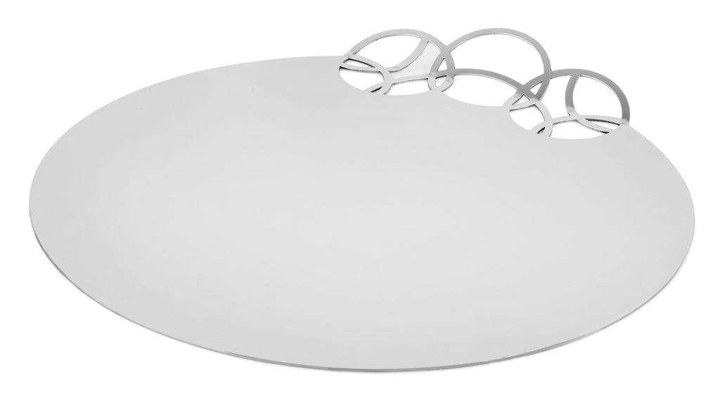Elleffe Design North America :Bubble Gold Service Tray or Charger in Stainless Steel