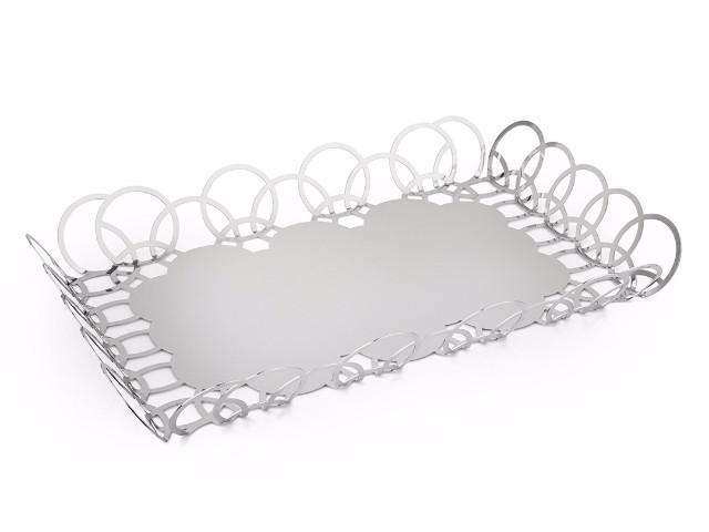 Elleffe Design North America :Small serving tray in stainless steel grade 18/10 by Elleffe Design