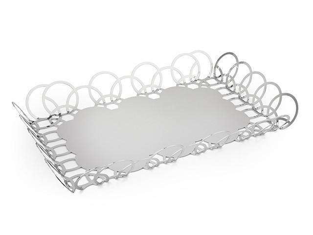 Elleffe Design North America :Bubble Large Serving Tray in Stainless Steel Grade 18/10 by Elleffe Design
