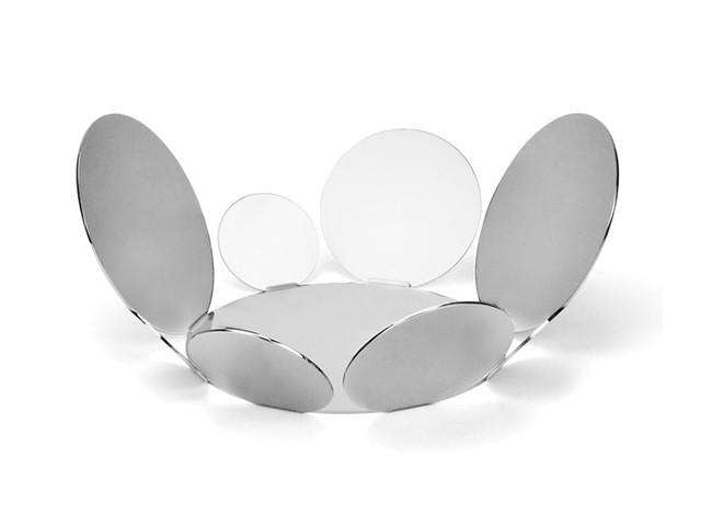Elleffe Design North America :Ciocco Extra-Large Serving Basket in Stainless Steel Grade 18/10 by Elleffe Design