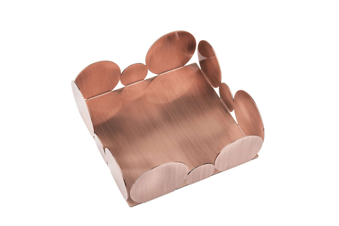 Elleffe Design North America :Ciocco Copper Fruit Bowl in Stainless Steel Grade 18/10 by Elleffe Design