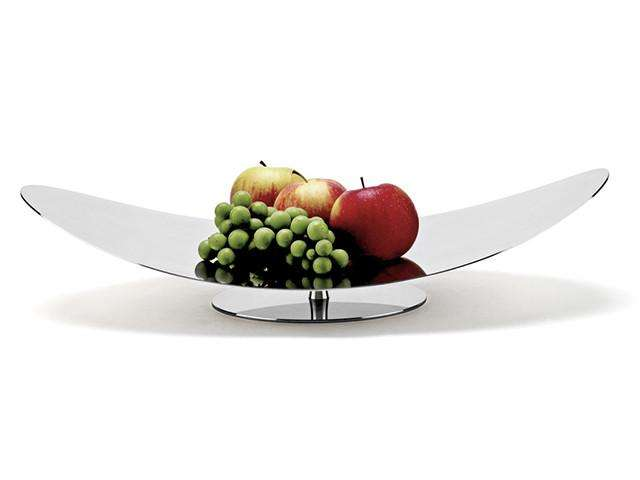 Elleffe Design North America :Centrotavola Small Curved Serving Stand in Stainless Steel Grade 18/10 by Elleffe Design