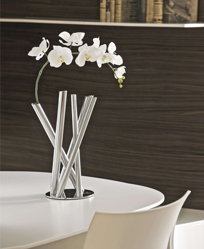 Elleffe Design North America :Emi Tube Vase in Stainless Steel Grade 18/10 by Elleffe Design