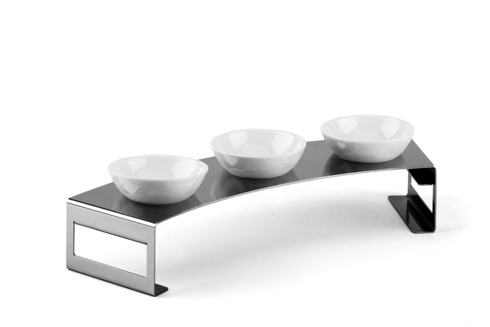 Elleffe Design North America :Lunch Small Condiment Serving Stand in Stainless Steel Grade 18/10 by Elleffe Design