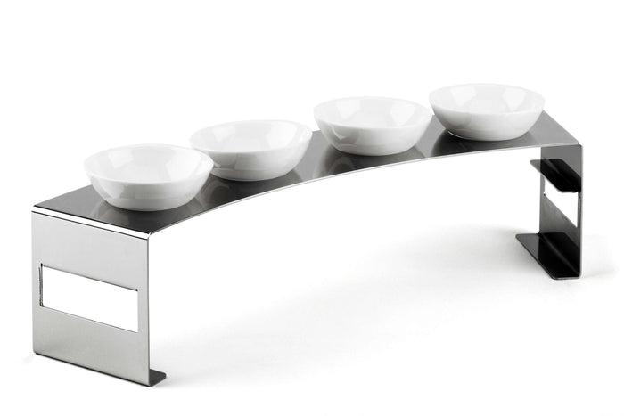 Elleffe Design North America :Lunch Large Condiment Stand in Stainless Steel Grade 18/10 by Elleffe Design