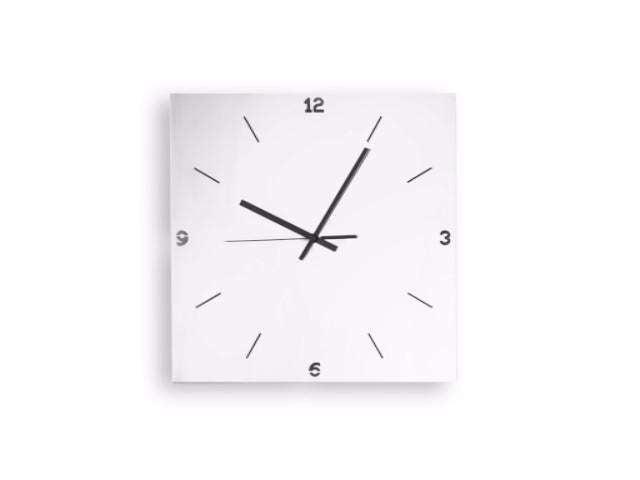 Elleffe Design North America :Orologi Square Wall Clock in Stainless Steel Grade 18/10 by Elleffe Design
