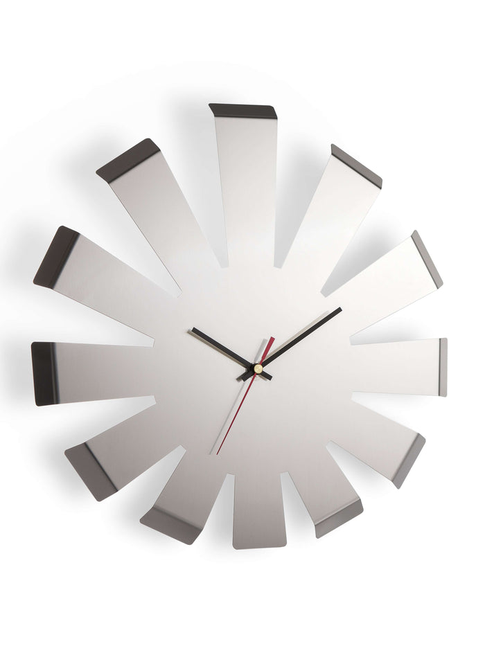 Elleffe Design North America :Burst Wall Clock in Stainless Steel Grade 18/10 by Elleffe Design