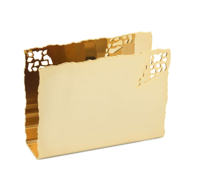 Elleffe Design North America :Mosaico Gold Napkin Holder in Stainless Steel Grade 18/10 by Elleffe Design