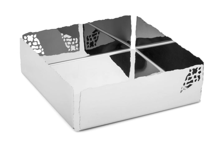 Elleffe Design North America :Mosaico Napkin holder in 18/10 Stainless Steel by Elleffe Design