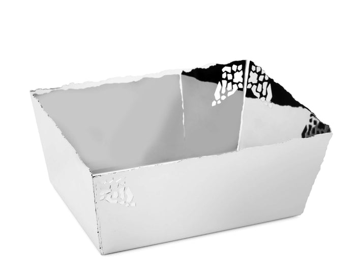 Elleffe Design North America :Mosaico Serving Basket in 18/10 Stainless Steel by Elleffe Design