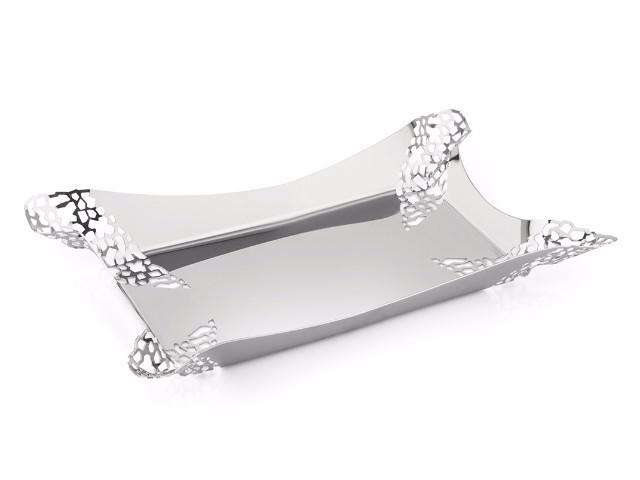 Elleffe Design North America :Mosaico Small Serving Tray in Stainless Steel Grade 18/10 by Elleffe Design