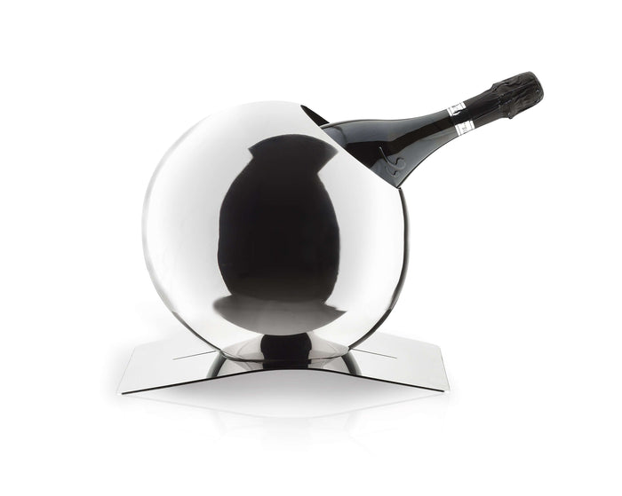 Elleffe Design North America :Sfera Wine Bucket in Stainless Steel Grade 18/10 by Elleffe Design
