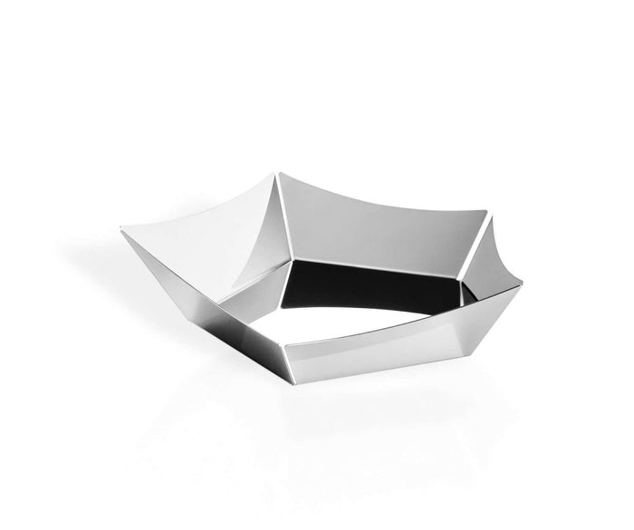 Elleffe Design North America :Vela Serving Basket in Stainless Steel Grade 18/10 by Elleffe Design