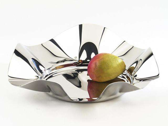 Elleffe Design North America :World Large Fruit Bowl in Stainless Steel Grade 18/10 by Elleffe Design