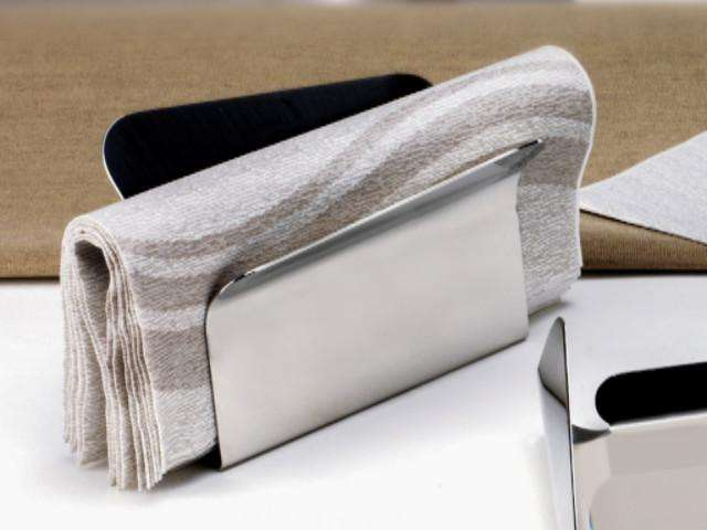 Elleffe Design North America :Ypsilon Napkin Holder in Stainless Steel Grade 18/10 by Elleffe Design