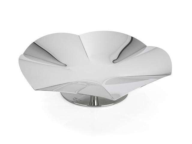 Elleffe Design North America :Alzate Large Concave Serving Stand in Stainless Steel Grade 18/10 by Elleffe Design