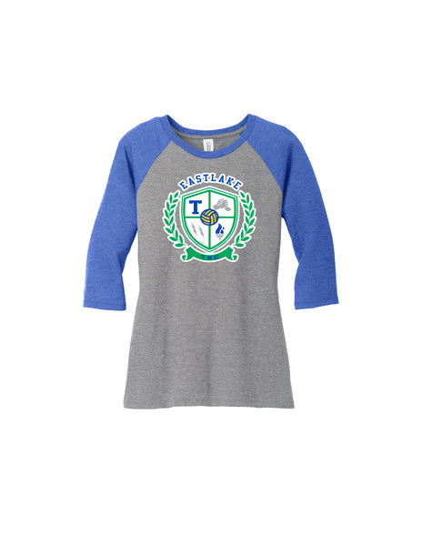 Team Women's Perfect Tri 3/4-Sleeve Raglan
