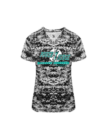 Ladie's Digital Camo V-Neck Dri-Fit
