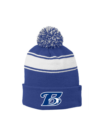 Breakers Stripe Pom Pom Beanie