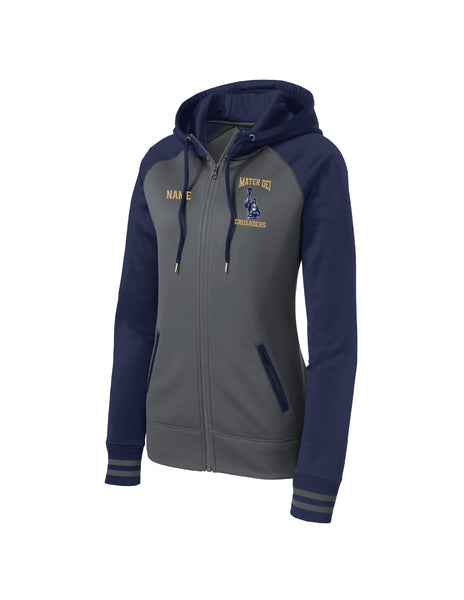 Ladies Crusaders Varsity Full zip Hoodie